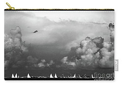 Sailboats And Thunderheads In Bw Carry-all Pouch