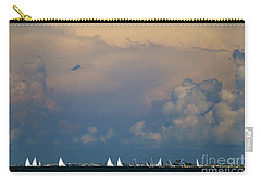 Sailboats And Thunderheads Carry-all Pouch