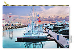 sailboats and yachts in the roads of the main sea channel of the Sochi seaport Carry-all Pouch