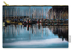 Sailboats At Sunset Carry-all Pouch by David Patterson