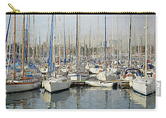 Sailboats At The Dock - Painting Carry-all Pouch