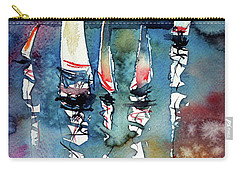 Carry-all Pouch featuring the painting Sailboats II by Kovacs Anna Brigitta