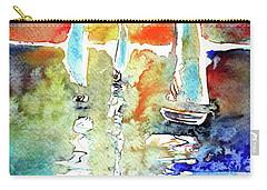 Sailboats In Light Carry-all Pouch by Kovacs Anna Brigitta