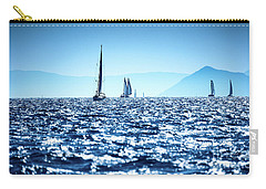 Sailboats In The Sea Carry-all Pouch