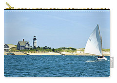 Sailing Around Barnstable Harbor Carry-all Pouch by Charles Harden