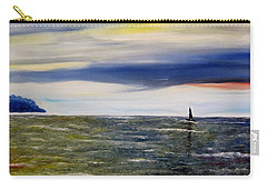 Carry-all Pouch featuring the painting Sailing At Dusk by Marilyn  McNish