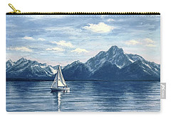 Sailing At The Grand Tetons Carry-all Pouch