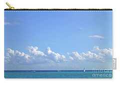 Carry-all Pouch featuring the photograph Sailing Blue Seas by Francesca Mackenney