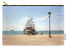Sailing Boat With Veils In Horbour Carry-all Pouch