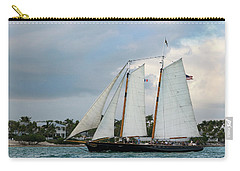 Carry-all Pouch featuring the photograph Sailing In Key West At Dusk by Bob Slitzan
