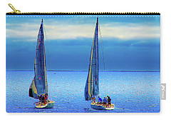 Sailing In The Blue Carry-all Pouch by Joseph Hollingsworth
