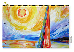 Sailing In The Hot Summer Sunset Carry-all Pouch