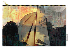 Carry-all Pouch featuring the photograph Sailing Into The Sunset by LemonArt Photography