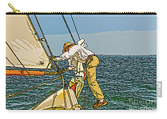 Sailing-not For Wimps-abstract Painting Carry-all Pouch