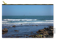 Sailing Off The Coast At Narragansett Pier Carry-all Pouch