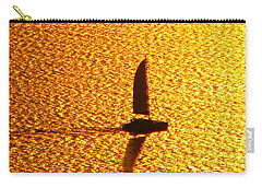 Sailing On Gold Carry-all Pouch by Ana Maria Edulescu