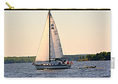 Carry-all Pouch featuring the photograph Sailing On Lake Murray Sc by Lisa Wooten