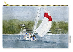 Carry-all Pouch featuring the painting Sailing On Niagara River by Melly Terpening