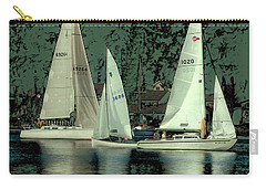 Carry-all Pouch featuring the photograph Sailing Reflections by David Patterson