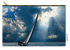 Sailing Ship . The Sea Hates A Coward.  Carry-all Pouch