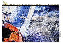 Carry-all Pouch featuring the painting Sailing Souls by Hanne Lore Koehler