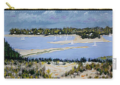 Sailing The Bay Carry-all Pouch by Mike Caitham
