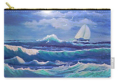 Carry-all Pouch featuring the painting Sailing The Caribbean by Holly Martinson