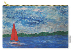Carry-all Pouch featuring the painting Sailing The Wind by John Scates