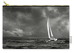 Sailing The Wine Dark Sea In Black And White Carry-all Pouch