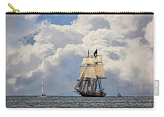 Carry-all Pouch featuring the photograph Sailing To Port by Dale Kincaid