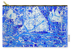 Carry-all Pouch featuring the painting Sailing With Friends by J R Seymour