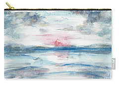 Carry-all Pouch featuring the painting Sailors Warning by Reed Novotny