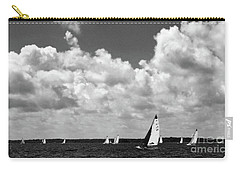 Sails And Clouds In Bw Carry-all Pouch