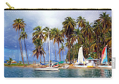 Sails And Palms Carry-all Pouch by Sue Melvin