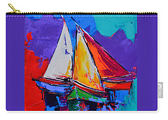 Sails Colors Carry-all Pouch by Elise Palmigiani