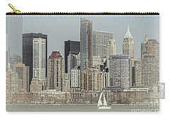 Carry-all Pouch featuring the photograph Sails On The Hudson by Debra Fedchin