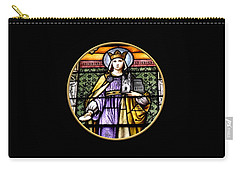 Saint Adelaide Stained Glass Window In The Round Carry-all Pouch