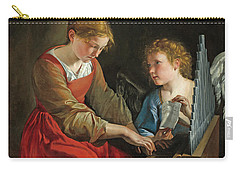 Saint Cecilia And An Angel Carry-all Pouch