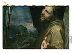 Saint Francis Carry-all Pouch by Federico Barocci