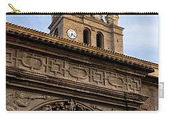 Carry-all Pouch featuring the photograph Saint Hieronymus Facade Of Calahorra Cathedral by RicardMN Photography