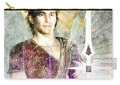 Carry-all Pouch featuring the painting Saint  Michael 9 by Suzanne Silvir
