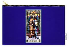 Saint Michael The Archangel Stained Glass Window Carry-all Pouch