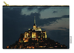 Carry-all Pouch featuring the photograph Saint Michel Mount After The Sunset, France by Yoel Koskas