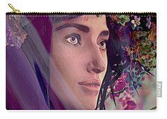 Saint Rose Of Lima 4 Carry-all Pouch by Suzanne Silvir