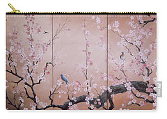 Sakura - Cherry Trees In Bloom Carry-all Pouch by Sorin Apostolescu