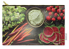 Carry-all Pouch featuring the photograph Salad Legume Vegetables Healthy Food Cuisine Chef Kitchen Christmas Holidays Birthday Mom Dad Sister by Navin Joshi
