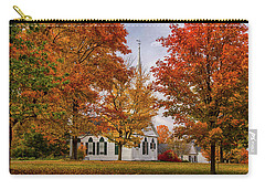 Carry-all Pouch featuring the photograph Salem Church In Autumn by Jeff Folger