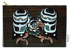 Carry-all Pouch featuring the photograph Salish Painting by 'REA' Gallery