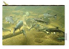 Salmon And Sturgeon Carry-all Pouch by Katie Wing Vigil