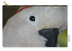 Salmon Crested Cockatoo Carry-all Pouch by Sharon Mau